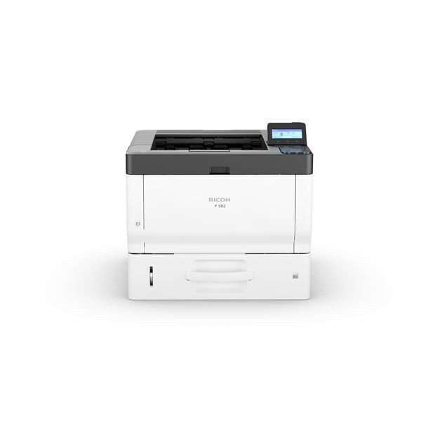 418495, RICOH, stampanti e scanner, Ricoh p 502, laser, 1200 x 1200 dpi, a4, 500 sheets, 43 ppm, network ready, Ricoh p 502. print technology: laser, number of print cartridges: 1, maximum resolution: 1200 x 1200 dpi. maximum iso a-series paper size: a4. print speed (black, normal quality, a4/us letter): 43 ppm. standard input capacity: 500 sheets, standard output capacity: 250 sheets. display: lcd. network ready, wi-fi. product colour: white